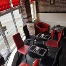 We have a large cafe seating area with new comfortable chairs