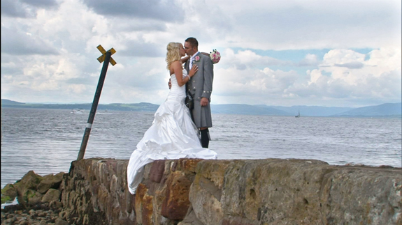 Bride at Largs