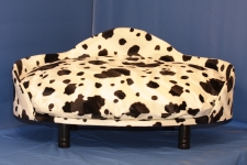 LARGE, cow print dog/cat bed with cushion and legs