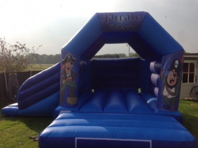 Pirate Bouncy Castle with side slide from Em Ben