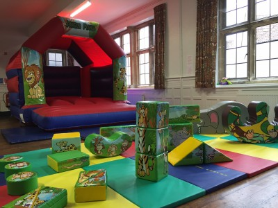 Jungle Bouncy Castle with Jungle Soft play