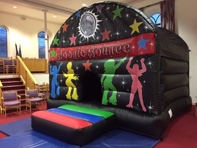 Disco Dome bouncy castle for hire in Somerset