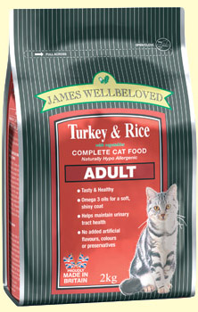 JWBCC2 James Wellbeloved Turkey & Rice Cat 10kG