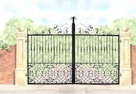 Baroque Gate Design