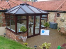 Conservatory Edwardian through grained