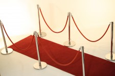 Red Carpet Walkway Rope & Stanchions Set