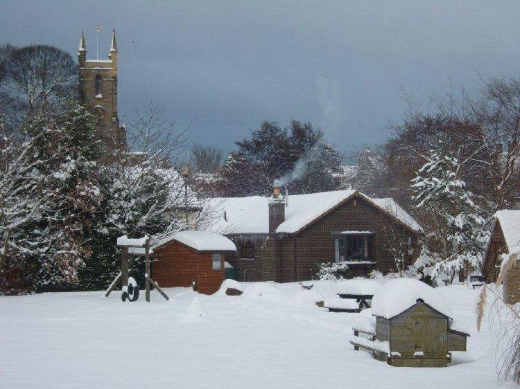 Bluebell Farm in the snow