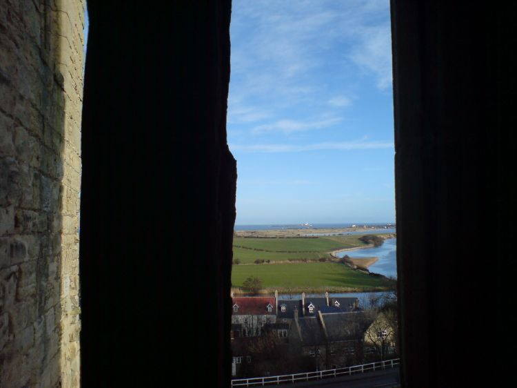 The view from Warkworth Castle
