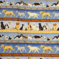 Dogs In Rows Fabric