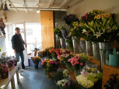 the flower room Chaddesley inside shop