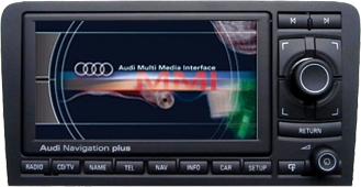 audi a3 rns e navigation plus sat nav system audi navigation audi retrofit. Black Bedroom Furniture Sets. Home Design Ideas