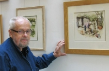 Michael Cooper at his Strode Theatre Exhibition