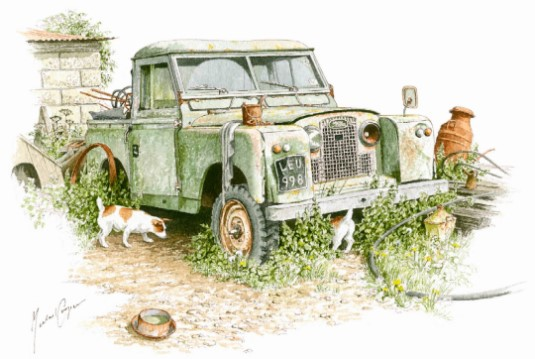 Land Rover Series II by Michael Coopedr
