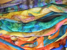 Hand painted silks by Margaret Gruber