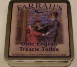 Farrah`s Flat Tin 100g Old English Treacle Toffee