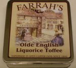 Farrah`s Flat Box 100g Old English Liquorice Toffee