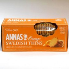 Anna`s Sweedish Cocolate & Orange Thins Biscuits 150g