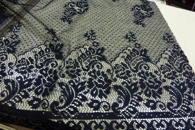 Nylon lace with a Border