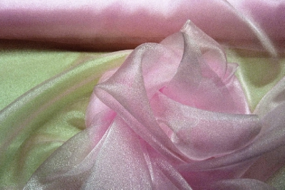 Brown, Red & Pink Japanese Organza Diamond Tissue