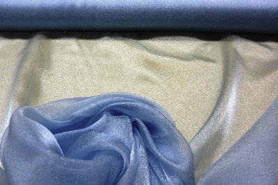 Blue Japanese Organza Diamond Tissue