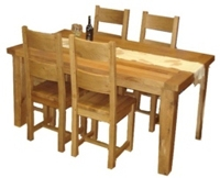 Solid Re-claimed Oak Table With 4 Chairs