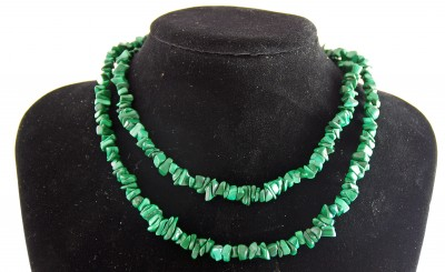 32� Malachite Chip Necklace