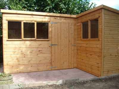 Quality garden sheds apex bromsgrove for L shaped shed