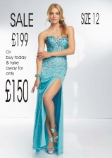 £199 SALE style 95050 in Ice Blue Size 12
