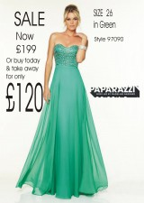 SALE now £275 sizes 18 + 26