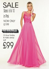 SALE now £199 sizes 6 + 10 PINK ONLY