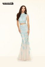 98082 IN STOCK IN AQUA/NUDE SIZE 12