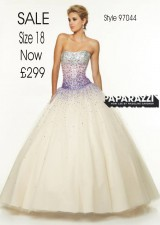 Sale £299 size 18 in Champagne/Purple