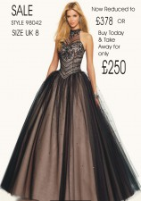 £378 SALE size 8 in Black/Nude style 98042