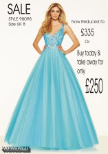 £335 SALE size 8 in Blue style 98088