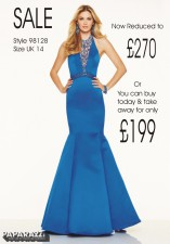 £270 SALE size 14 in Royal style 98128