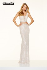 £249 SALE style 98010 IN WHT/NUDE SIZE 8