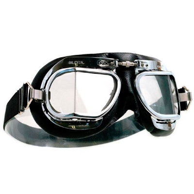 mk49 Mark 49 Halcyon Goggles - Black Leather