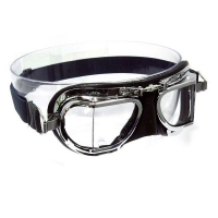 the Mark 49 Compact Halcyon goggles in Black Leather