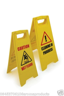 56 100x WET FLOOR SIGNS/A SIGN/CLEANING IN PROGRESS/SAFETY