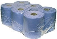 180 2PLY BLUE CENTREFEED/PULL ROLL PAPER TOWEL WIPER GARAGE