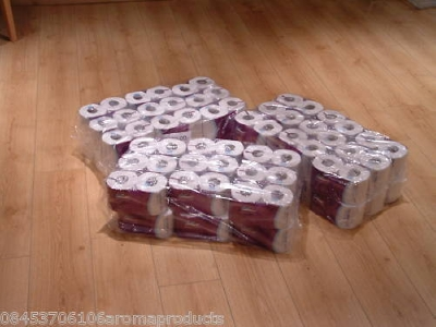 185 108 WHITE TOILET ROLLS/TISSUE 320 SHEETS 2PLY, 24HR DEL