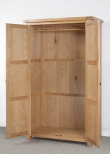 Devon Oak Double Robe  Full Hanging Wardrobe
