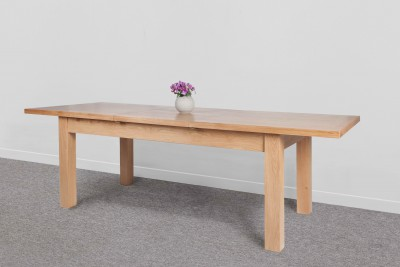 Devon Oak Extending Dining Table 1800 2400