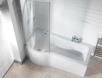 PSSBO P Shape Shower Bath (ONLY)
