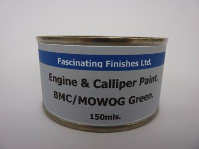 537 1 x 150ml BMC & MOWOG Green Heat Resistant Engine & Caliper Gloss Paint