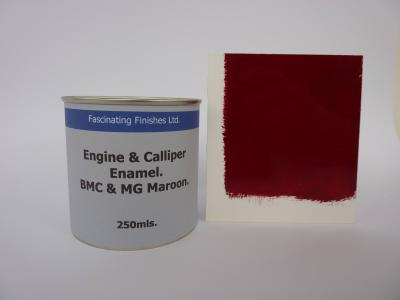 520 1 x 250ml BMC & MG Maroon Heat Resistant Engine and Caliper Gloss Paint