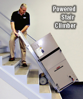 how to move heavy objects up stairs
