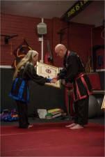 KJN John Recieving his 6th Dahn Certificate