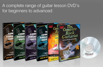 1TSBOOKS1299 Learn To Play Guitar DVDs by Wansbeck - The Complete Rock Guitarist Series 1 to 2 - The Complete Fingerstyle Guitarist Series 1 to 4