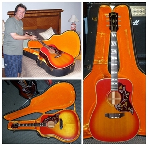 4GKH022 Original 1969 Gibson Hummingbird Acoustic - Solid Spruce Top with Mahogany Back & Sides - Inc. Original Period Hard Case